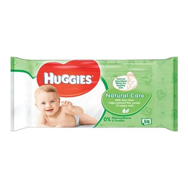 Huggies Natural Care with Aloe Vera Wipes, 56-Count