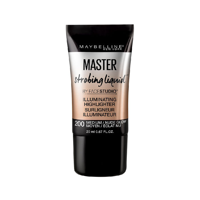 Maybelline Facestudio Master Strobing Liquid Illuminating Highlighter, Medium Nude Glow