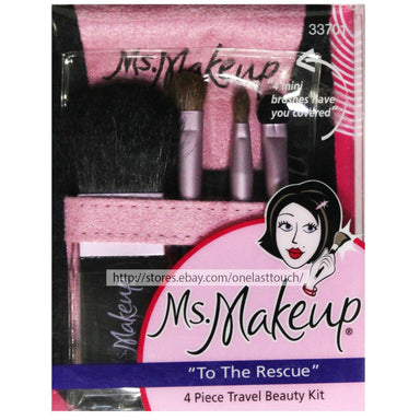 Ms Makeup To the Rescue 4 Piece Travel Kit