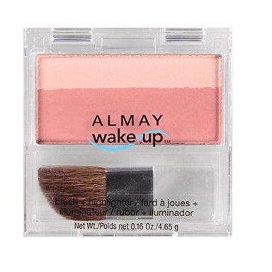 Almay Wake Up Blush And Highlighter, Pink Rose, 0.16 Ounce
