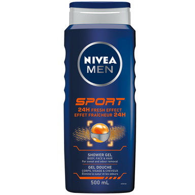 Nivea Men Sport 24H Fresh Effect Shower Gel, 500 ml