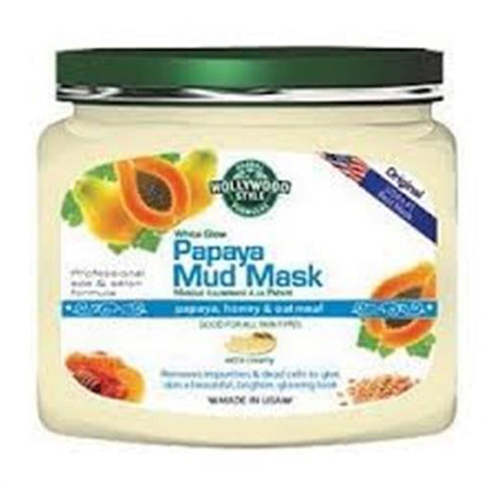 Hollywood Style White Glow Papaya Mud Mask 600g