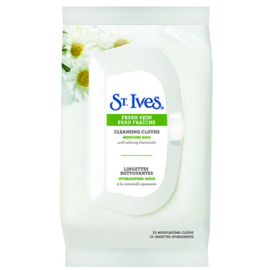 St. Ives Fresh Skin Moisture Rich Cleansing Cloths 32 Count
