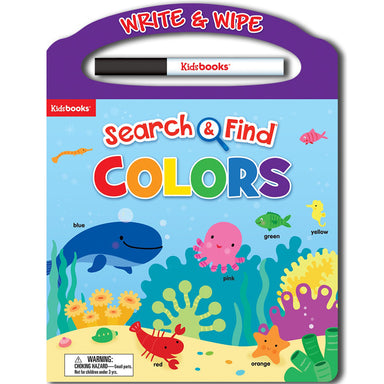 Wipe Clean: Search and Find Colors Early Learning Activity Colours Book