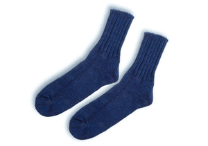 Anonymousism Indigo Light Ribbed Socks