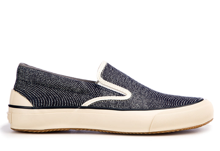 The Hill Side Fingerprint Indigo Slip On
