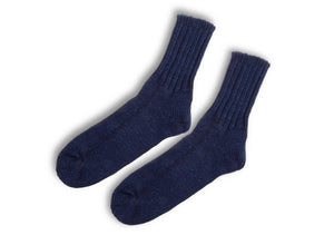 Anonymousism Indigo Dark Ribbed socks