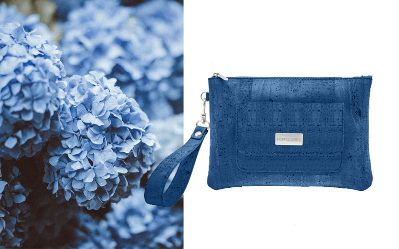 Leia Cork Wristlet Handbags Bent & Bree Blue