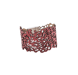 Sage Reversible Cork Bracelet Bracelets Bent & Bree Red Small - 6.5""