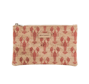 Maia Petite Cork Lobster Clutch Wristlets Bent & Bree Lobster