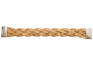 Alex Cork Bracelet - NEW ARRIVAL Bracelets Bent & Bree Natural Large - 7.25""