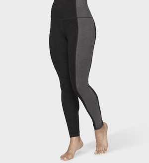 Eko Soft Asymmetric Leggings Leggings Manduka Dark Heather Charcoal Small