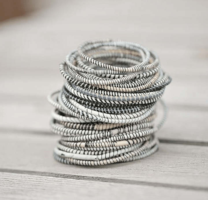 ecoimagine Zebra Recycled Bangle Bracelets