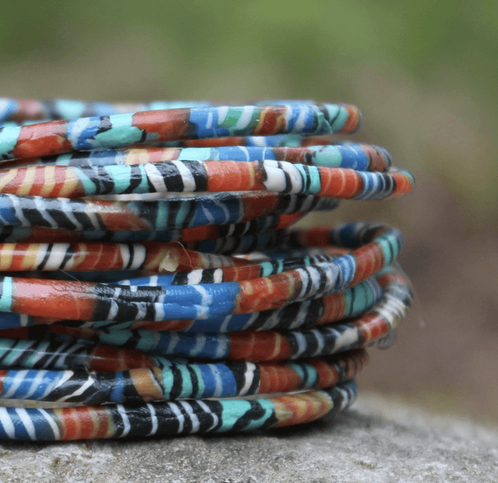 ecoimagine Kaleidoscope Recycled Bangle Bracelets