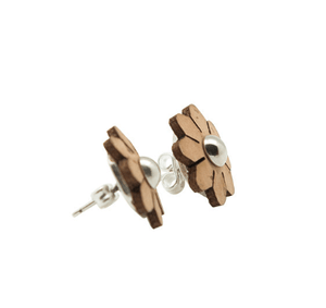 Blossom Floral Cork Earrings Earrings Bent & Bree