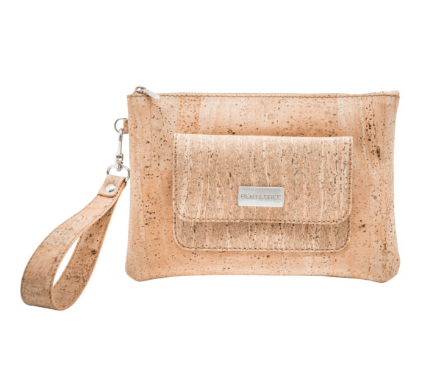 Leia Cork Wristlet Handbags Bent & Bree Natural