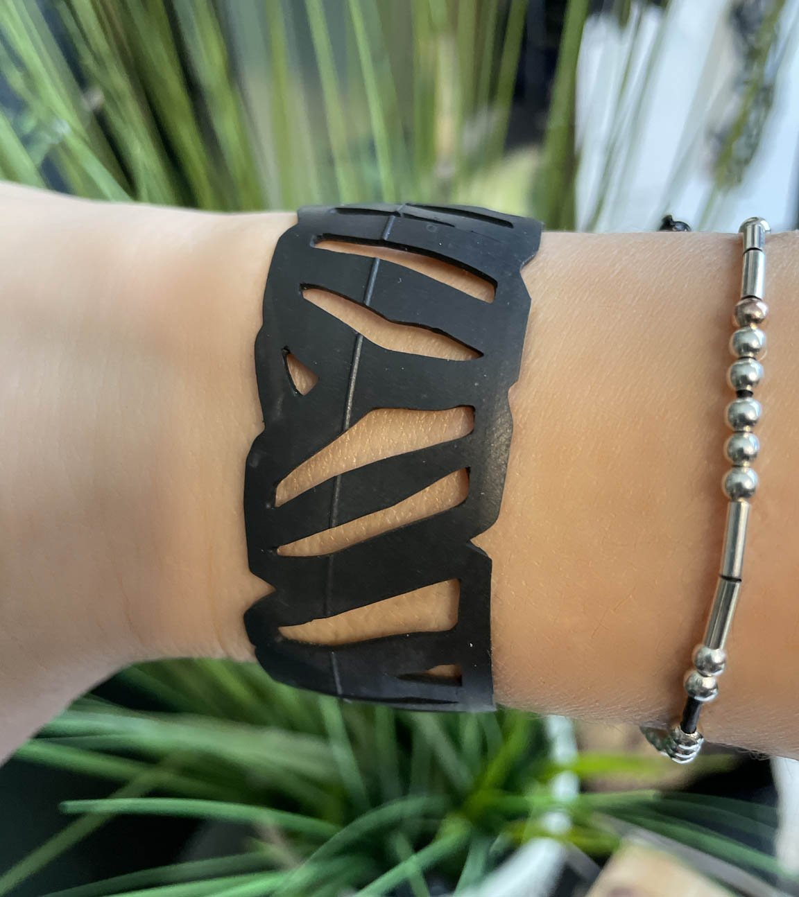 Zebra Bicycle Tube Bracelet