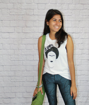 Frida Kahlo Bamboo Tank Top Tank Tops Yoga Democracy