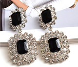 Glam large Rhinestone luxury  earrings.