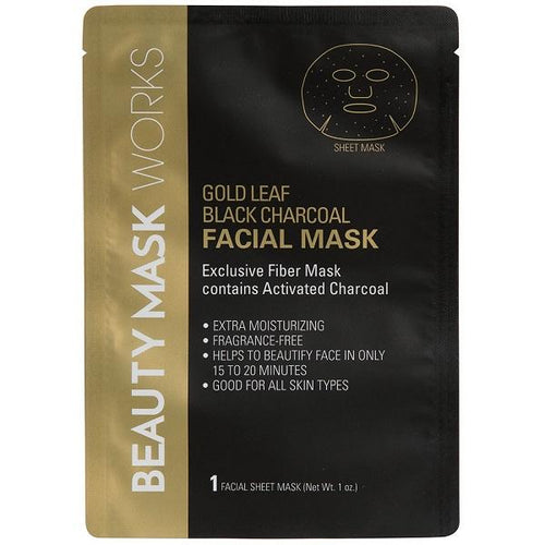 Gold Leaf - Black Charcoal Sheet Mask