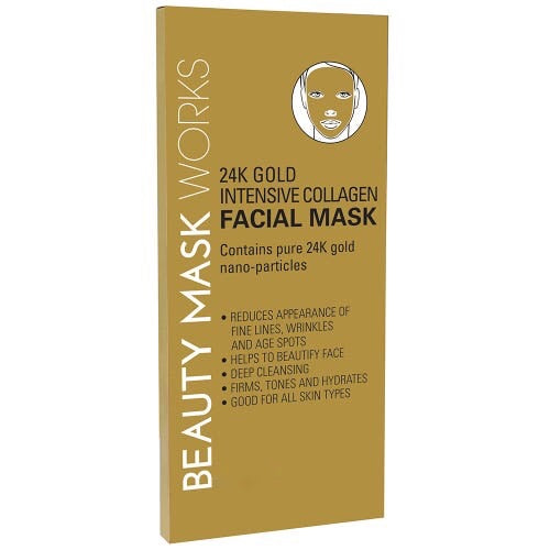 24K Gold Intensive Collagen Facial Mask (Beauty Works)