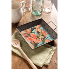 Load image into Gallery viewer, Square Metal Serving Tray - Be Happy Be Bright Be You