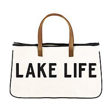 Load image into Gallery viewer, Lake Life Canvas Tote Bag