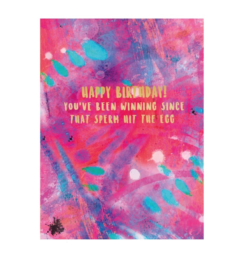 Hit The Egg Birthday Greeting Card