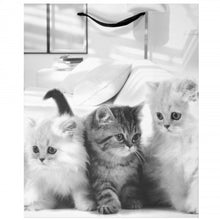 Load image into Gallery viewer, Puppies and Kittens Gift Bag - Large - Black & White