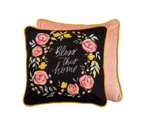Bless This Home 16 Inch Throw Pillow
