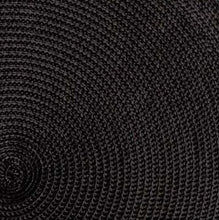 Load image into Gallery viewer, Black Round Woven Placemats - Set of 4