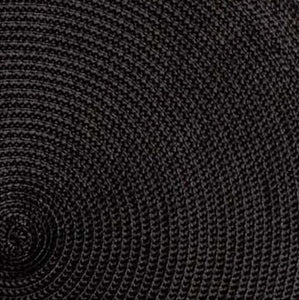 Black Round Woven Placemats - Set of 4