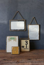 "Load image into Gallery viewer, Hanging Brass Picture Frame, 5""x7"" double sided"