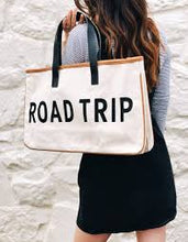 Load image into Gallery viewer, Road Trip Canvas Tote Bag