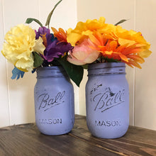 Load image into Gallery viewer, Lavender mason jar vase
