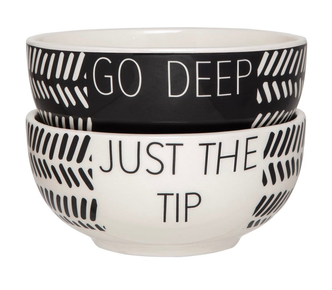 Go Deep / Just the tip snack set -set of 2
