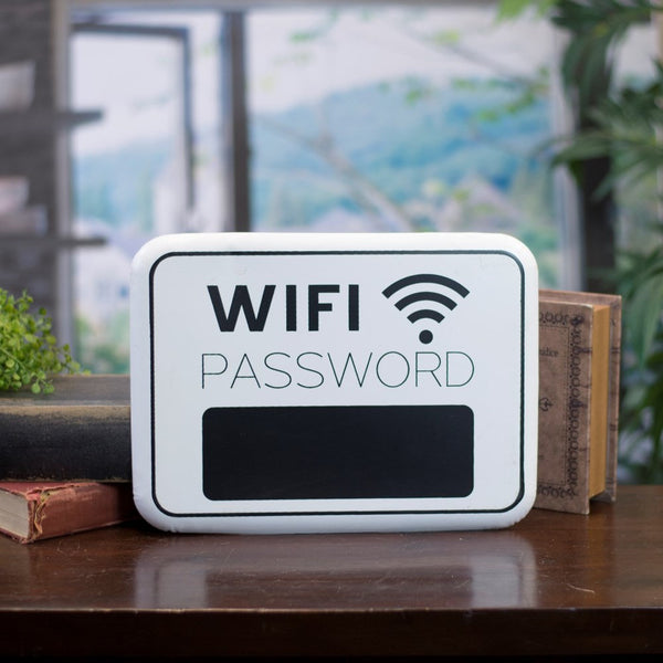 Metal sign WIFI PASSWORD