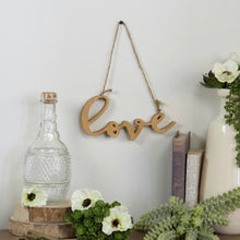 "Load image into Gallery viewer, Farmhouse ""love"" hanging decor"