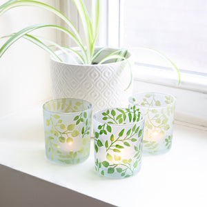 Green Fern - 3 Assorted Votive Holders
