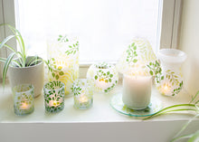 Load image into Gallery viewer, Green Fern - 3 Assorted Votive Holders