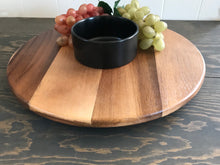 Load image into Gallery viewer, Lazy Susan Acacia Wood Party Server and bowl