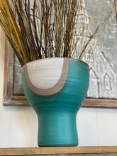 Load image into Gallery viewer, Large Opening Turquoise Vase