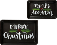 Load image into Gallery viewer, Christmas Trinket Tray Set of 2