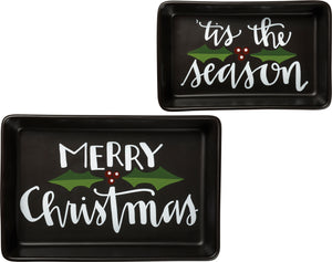 Christmas Trinket Tray Set of 2