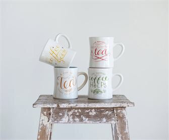 Colorful tea, coffee cups