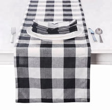 Load image into Gallery viewer, Buffalo plaid table runner 72""