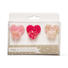 Load image into Gallery viewer, Heart Shaped Party Candles - Set of 6