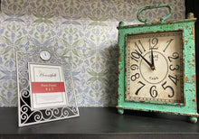 Load image into Gallery viewer, Silver Ornate Photo Frame With Clock