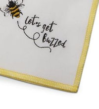 Load image into Gallery viewer, Let's Get Buzzed Cloth Cocktail Napkin set of 4