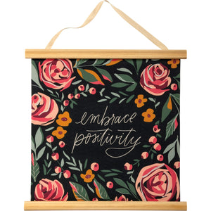 Embrace Positivity Hanging Canvas Scroll